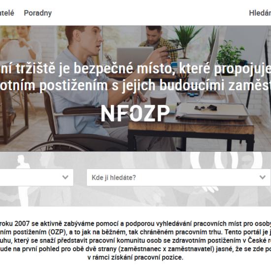 Nový portál propojuje osoby se zdravotním postižením s budoucími zaměstnavateli